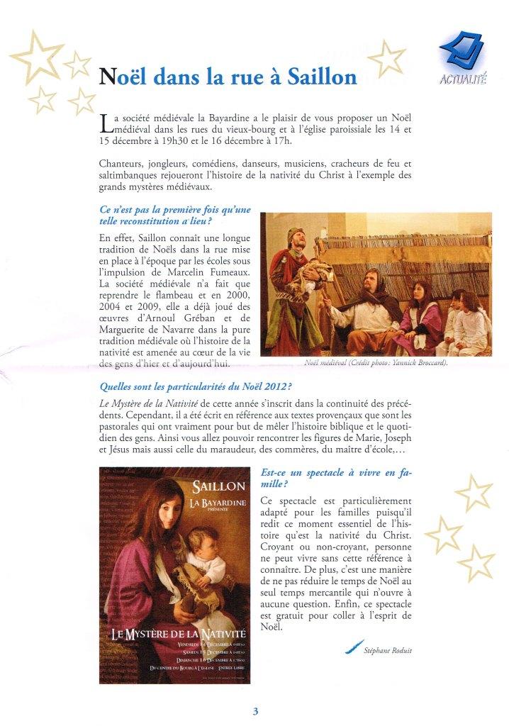 Noël 2012-Bulletin Paroissial