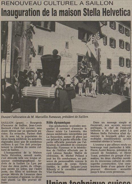 Inauguration Stella 28.04.1986