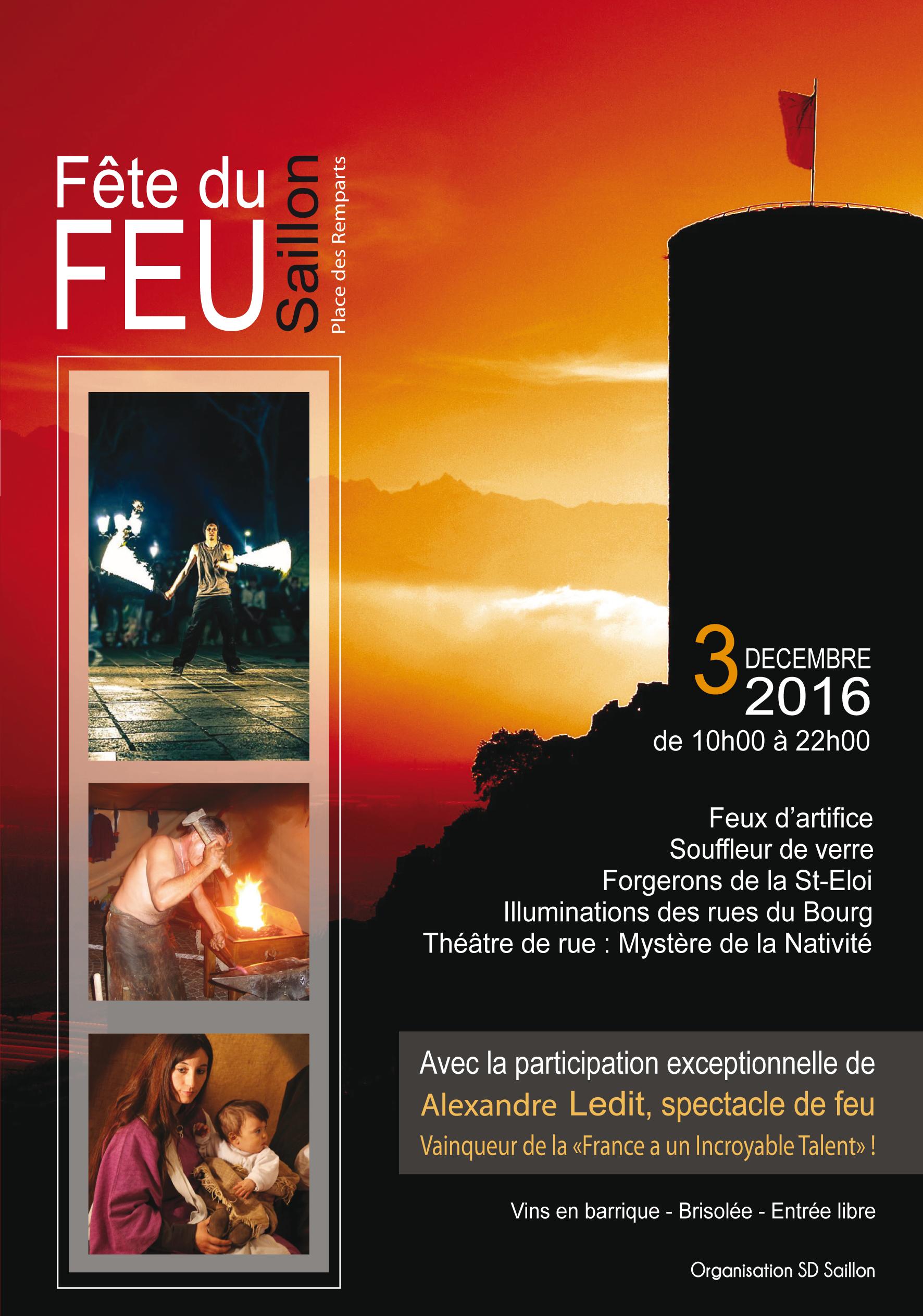 Noël médiéval et fête du feu à Saillon