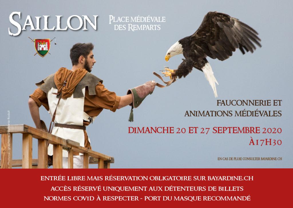 Flyer Fauconnerie et animations médiévales