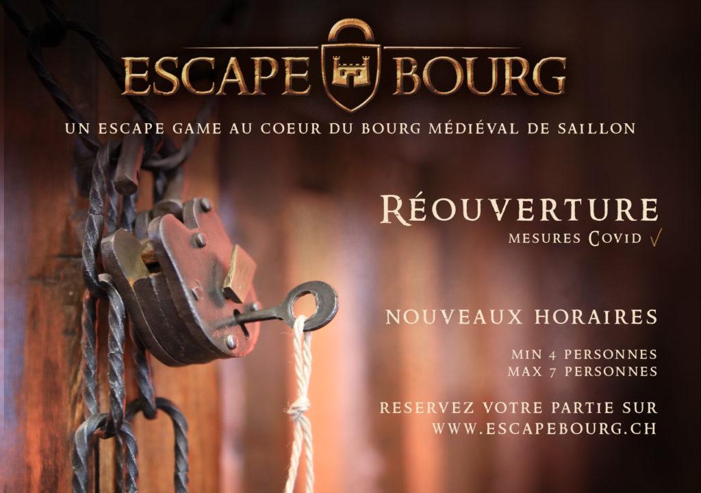 Escape Bourg Réouverture